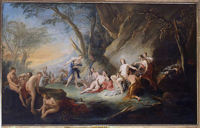 Le bain de Diane, Jean-Baptiste Van Loo