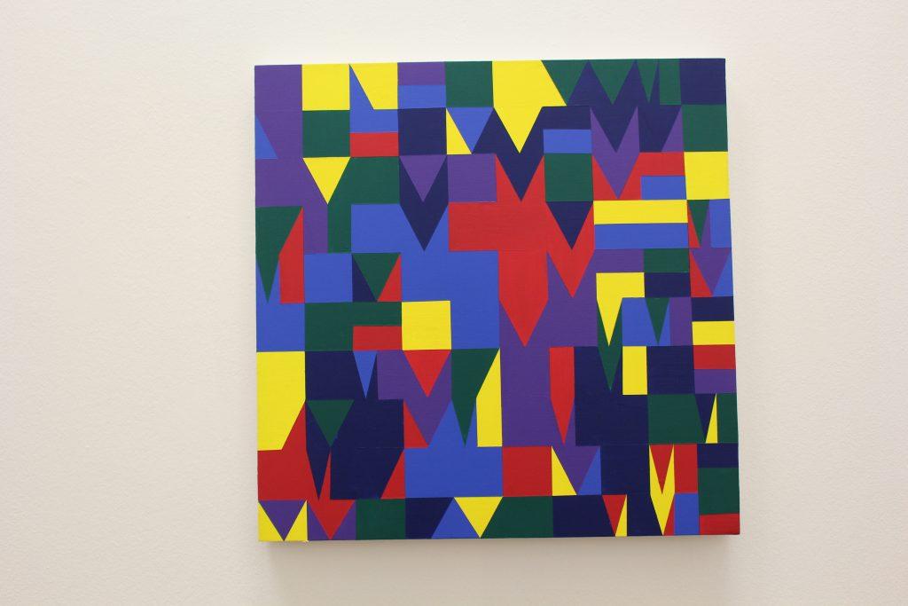 155 formes aléatoirement bleu, cyan, jaune, magenta, vert, violet, 2014, @ArtInVar