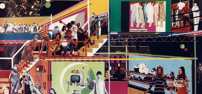 Palais Métro, Montréal, 1967. Architecte : François Dallegret. Collage. Courtesy François Dallegret
