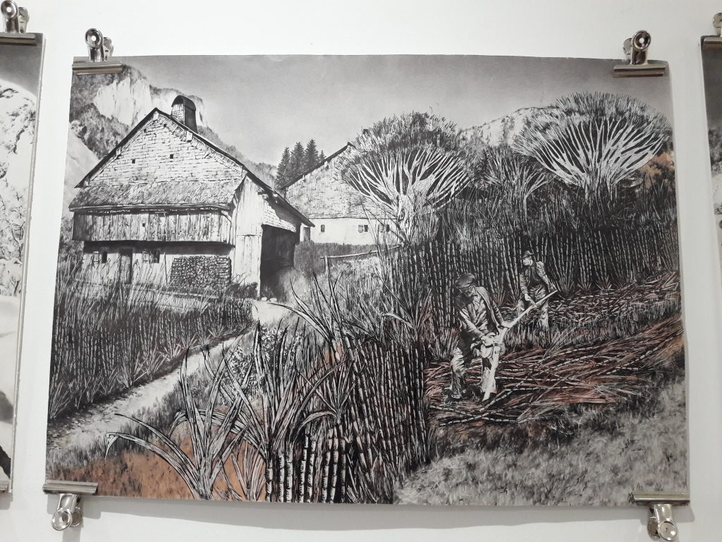 L'artiste Aline Robin expose chez les Frangines