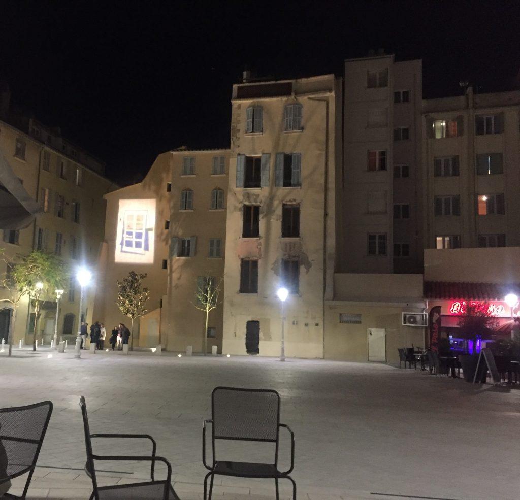 La Place de l'Equerre de nuit