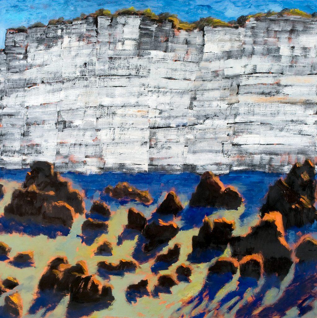 Falaise, huile sur toile, 120x120cm, 2014
